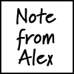 Note from Alex